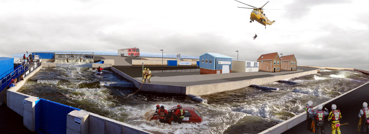Flood rescue training scene